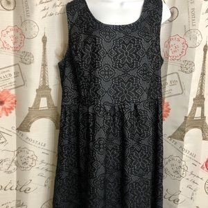"""Plus Size """"George"""" Black Lace and Grey Dress"""